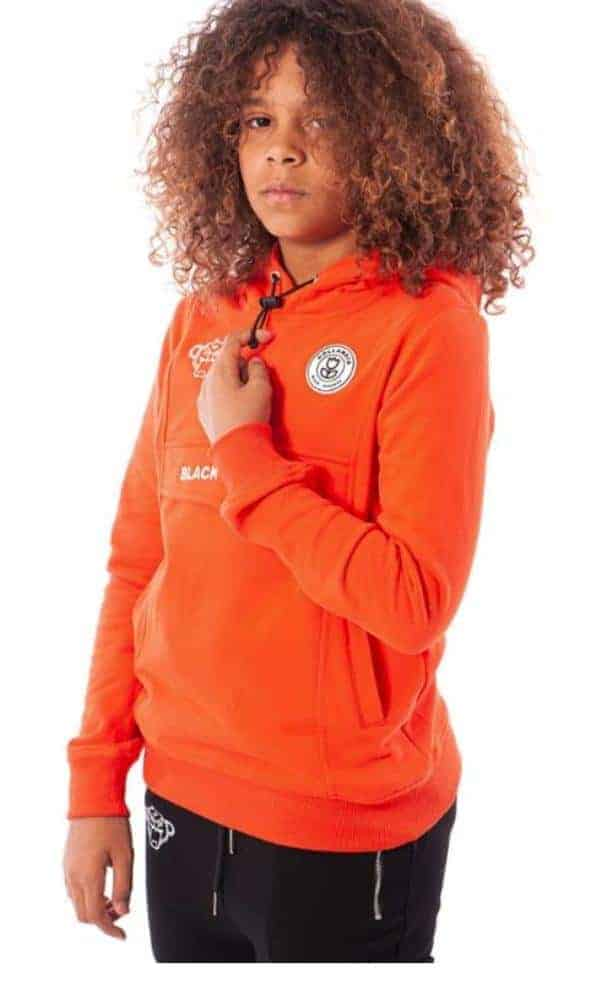 Black Bananas Unisex Truien & Vesten Black Bananas Hoodie Neon Orange - 2