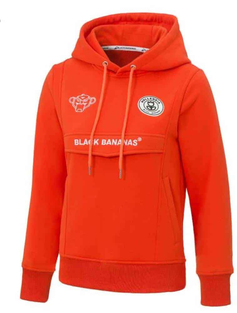Black Bananas Unisex Truien & Vesten Black Bananas Hoodie Neon Orange - 1