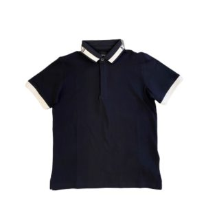 Armani Junior Jongens Shirts & Tops Armani junior donkerblauwe polo shirt - 1