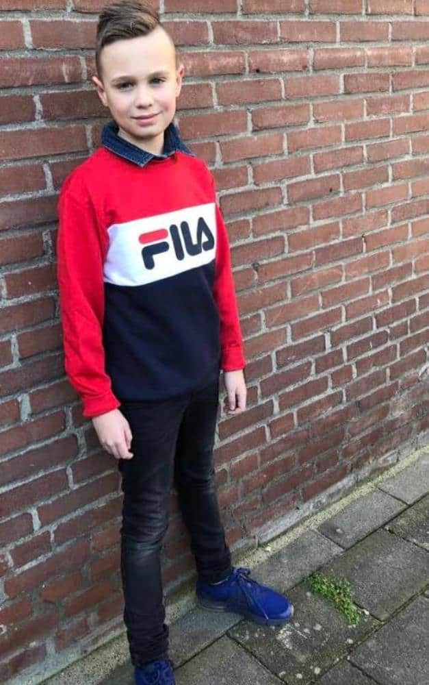 FILA Unisex Truien & Vesten Fila Kids sweater Night Blocked Urban Line 687194-G06 - 2