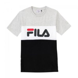 FILA Unisex Shirts & Tops Fila lichtgrijs shirt classic day blocked tee 687192 - 1
