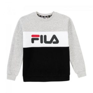 FILA Unisex Truien & Vesten Fila lichtgrijze trui sweater Night blocked crew - 1