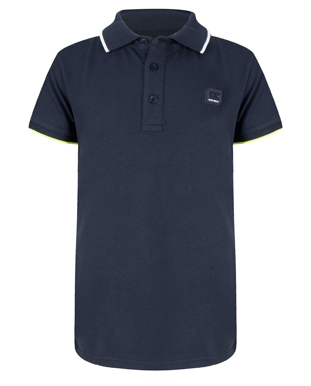 Indian Blue Jeans Jongens Shirts & Tops Indian Blue Jeans donkerblauwe polo shirt Pique lime IBB20-3695-596 - 1