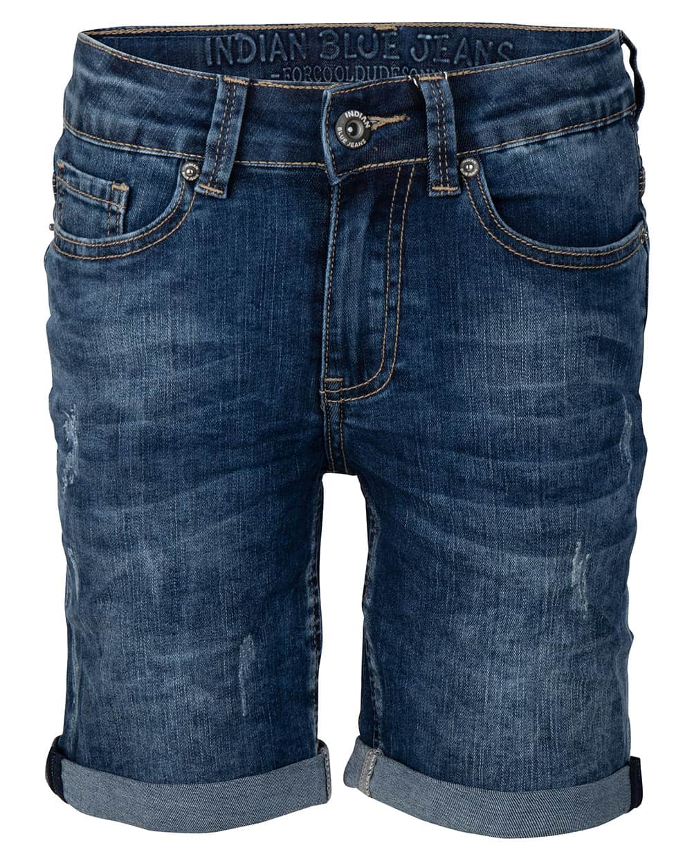 Indian Blue Jeans Jongens Broeken Indian Blue Jeans donkerblauwe short Dann - 1