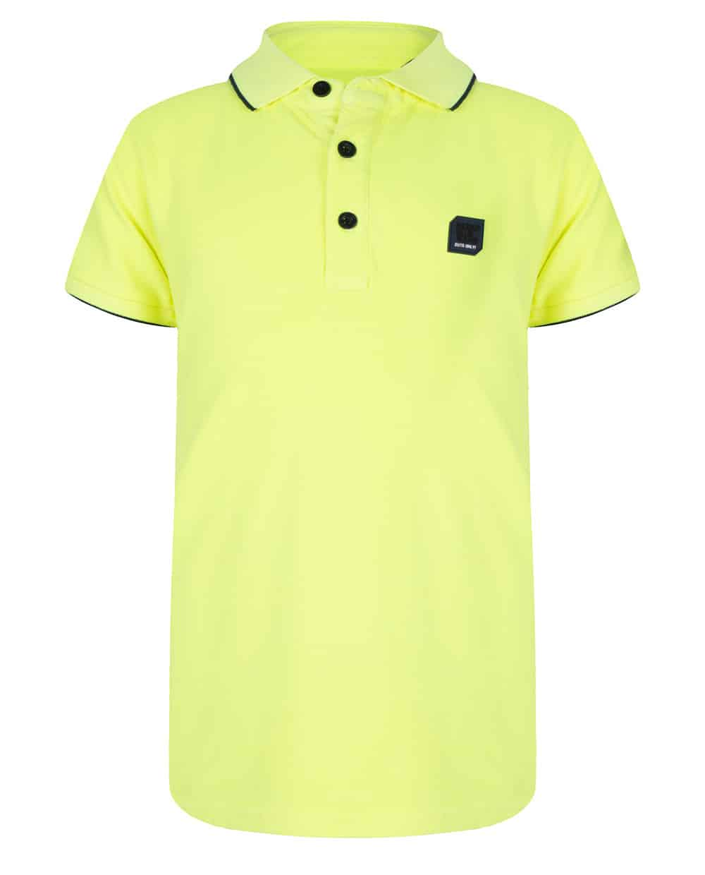 Indian Blue Jeans Jongens Shirts & Tops Indian Blue Jeans gele polo shirt Pique lime IBB20-3688-851 - 1