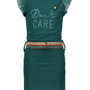 Like Flo Meisjes Jurken & Rokken Like Flo girls dress Mesh turquoise - 1