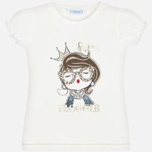 Mayoral Meisjes Shirts & Tops Mayoral wit shirt doll meiden - 1