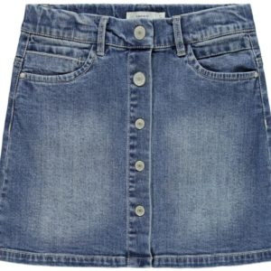 Name it Meisjes Jurken & Rokken Name donkerblauwe denim jeans rok Tegani - 1