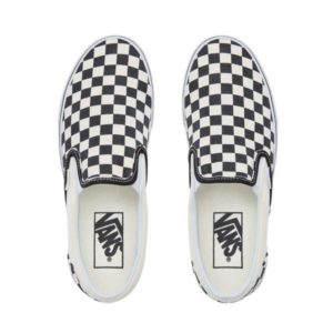 Vans Unisex Schoenen Vans Classic Slip on Black White Checkerboard - 1