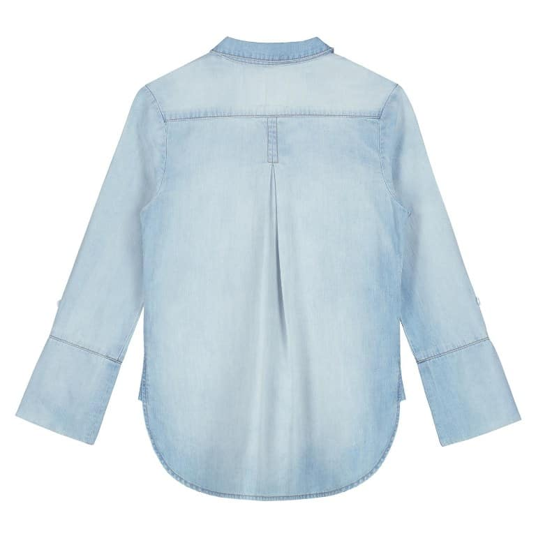 Circle of Trust Meisjes Blouses Circle of Trust lichtblauwe spijker blouse Liv Blue story wash - 2