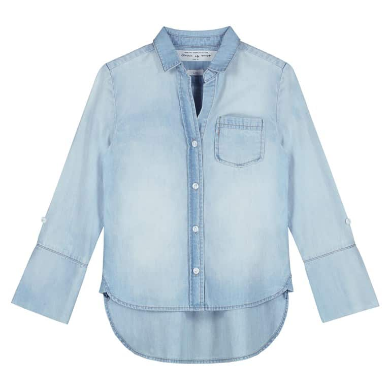 Circle of Trust Meisjes Blouses Circle of Trust lichtblauwe spijker blouse Liv Blue story wash - 1
