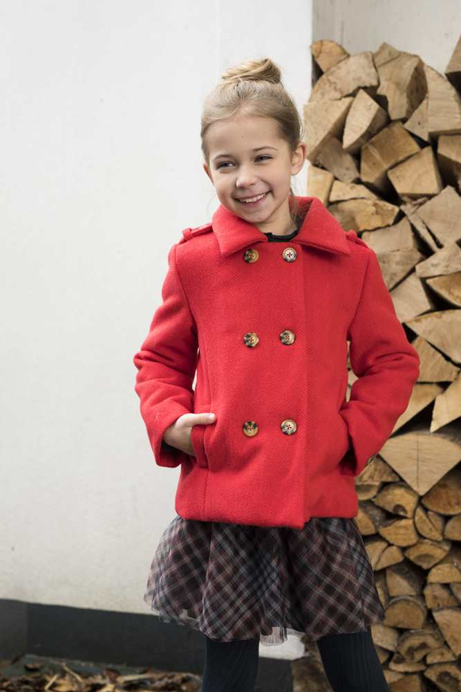 Like Flo Meisjes Jassen Like Flo Girls meisjes winterjas wool Pumpkin - 3