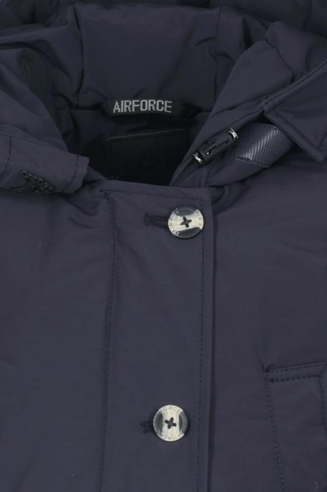 Airforce Meisjes Jassen Airforce donkerblauwe 4 pocket parka winterjas - 4
