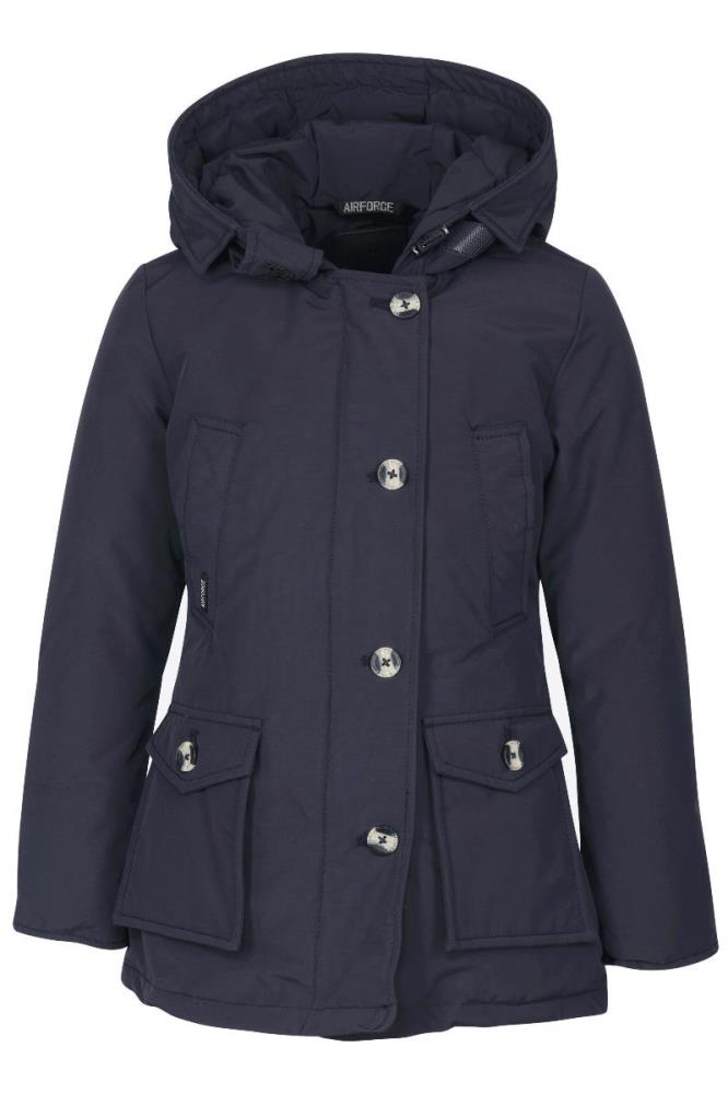 Airforce Meisjes Jassen Airforce donkerblauwe 4 pocket parka winterjas - 1