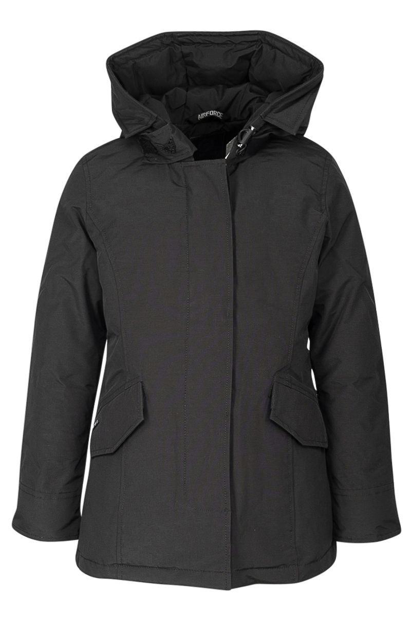 Airforce Meisjes Jassen Airforce zwarte winterjas 2 pocket deluxe parka - 1