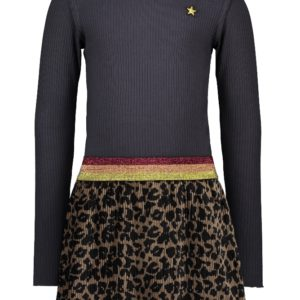 Like Flo Meisjes Jurken & Rokken Like Flo Girls turtle neck dress - 1