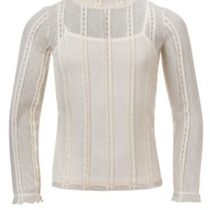 LOOXS Meisjes Shirts & Tops LOOXS revolution Girls off-white lace top chalk - 1