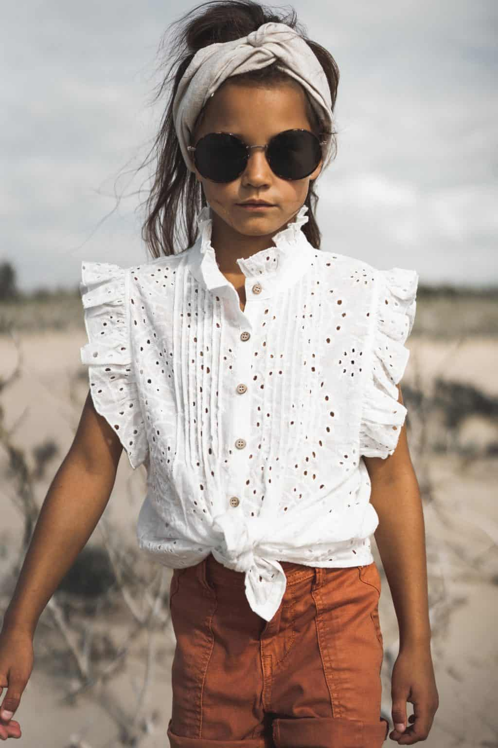 Circle of Trust Meisjes Blouses Circle of Trust witte blouse Katie - 4